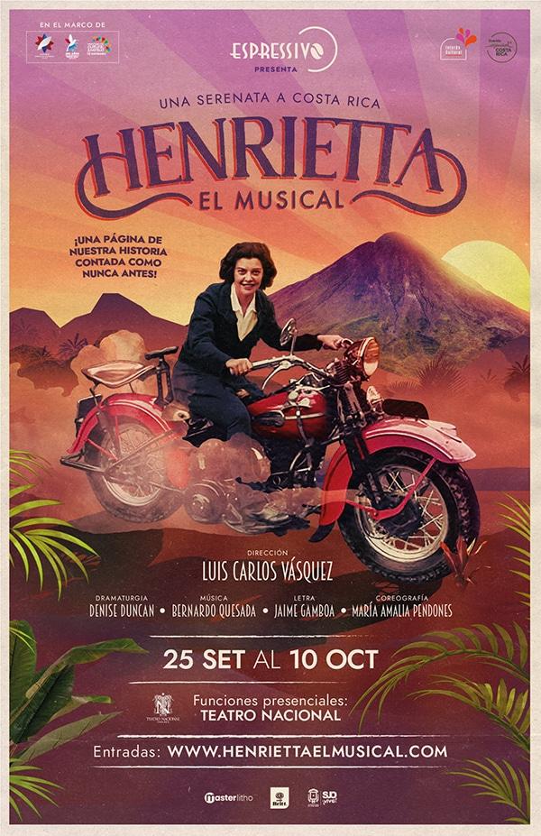"""Henrietta, el musical"" una serenata a Costa Rica - poster - ADIH"