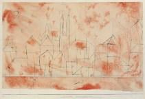 Paul Klee Stadt mit gotischem Münster 1925