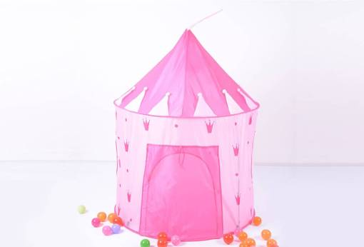 Pink Children's Castle Play Tent
