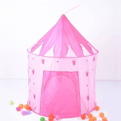 Pink Children's Castle Play Tent