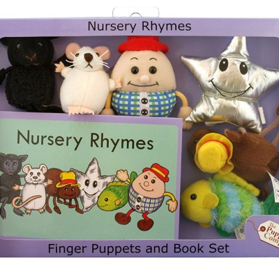 Gift set of nursery rhymes and matching finger puppets