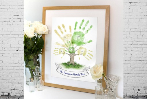 Gift - family tree made out of hand prints