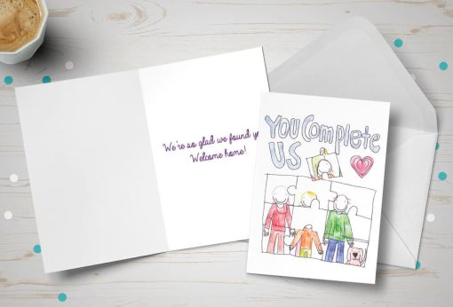 Placement Day card - National Adoption Week competition winner - jigsaw