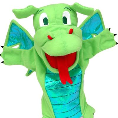 Green Dragon puppet toy