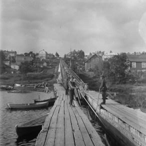 Punainen tukkitie 1929 Erkki Mäntylä Tampereen museoiden kuva-arkisto