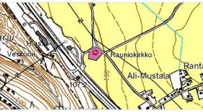 Rauniokirkko kartalla