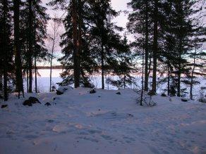 Tampere Lentävänniemen lapinraunion talvimaisemaa