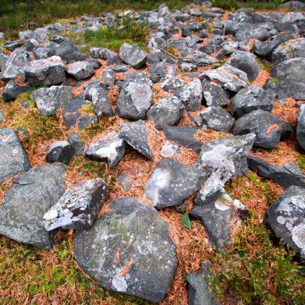 Reuharinniemen röykkiön kiveystä.