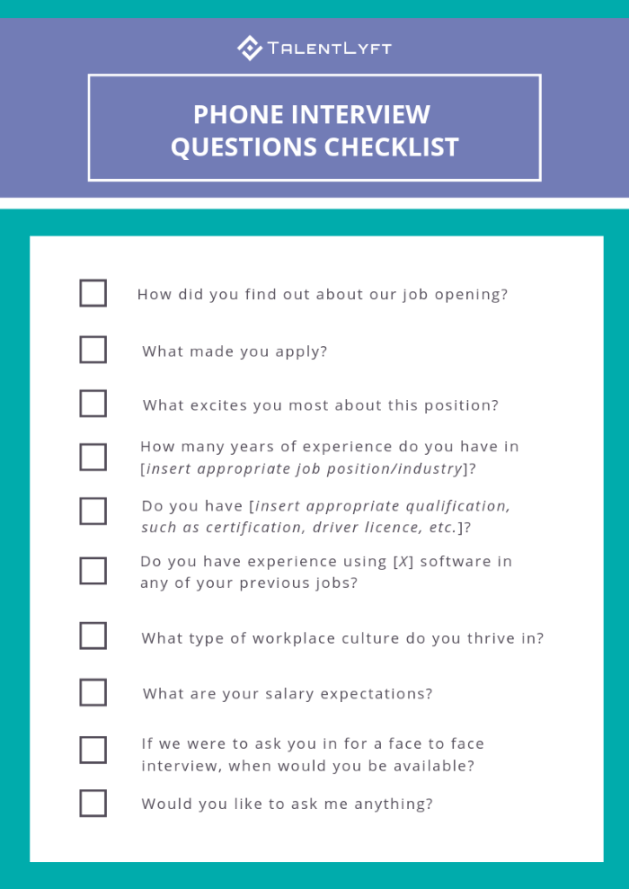 Phone Interview Questions to Ask Job Candidates