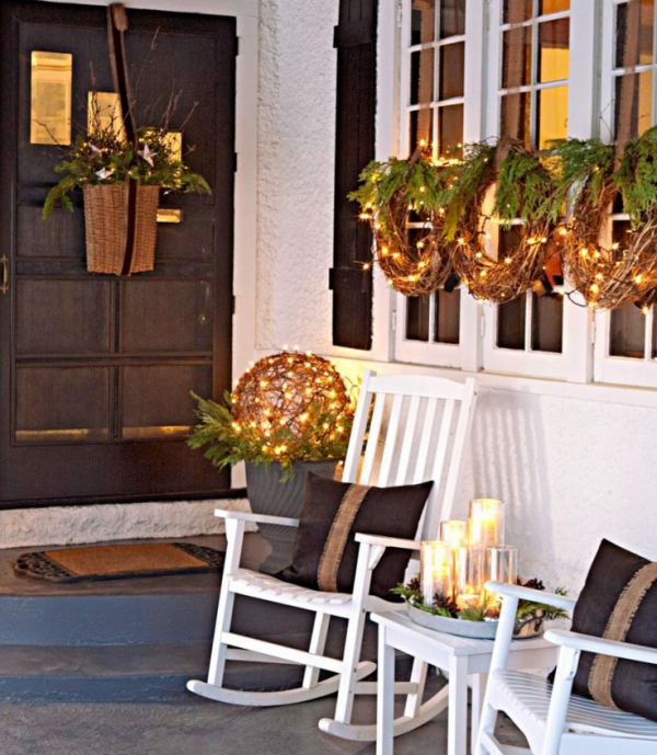Christmas Porch And Front Door Decorating Ideas Adorable