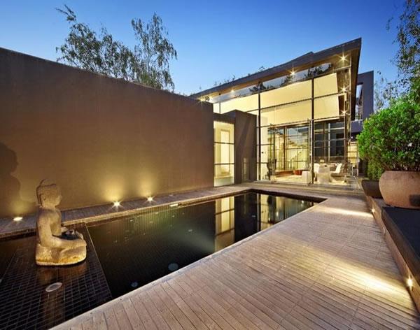 Contemporary Glass House Adorable Home