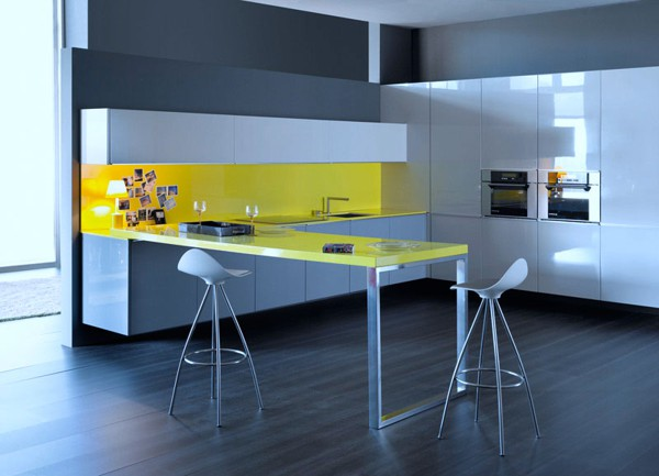 L Shaped Open Kitchen