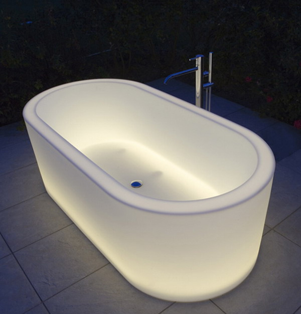 Unique Illuminated Bathtubs