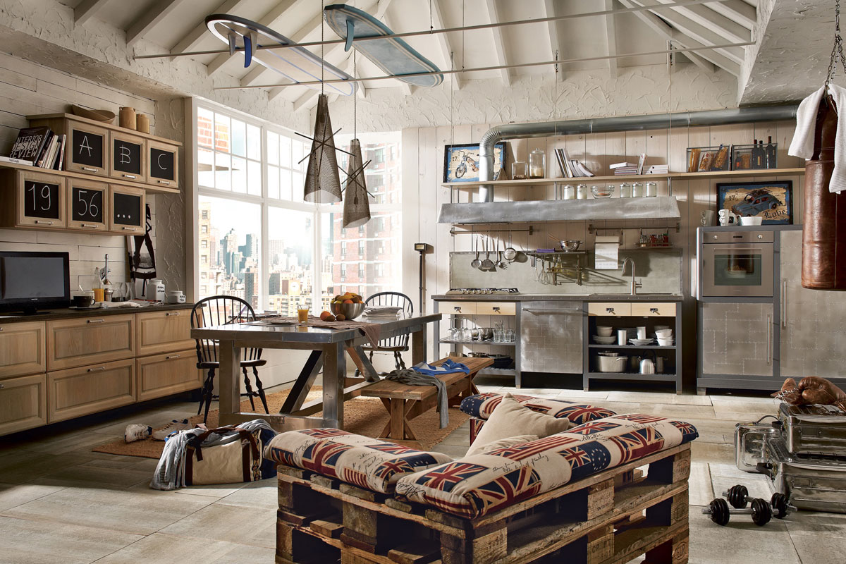 Vintage And Industrial Style Kitchens By Marchi Cucine