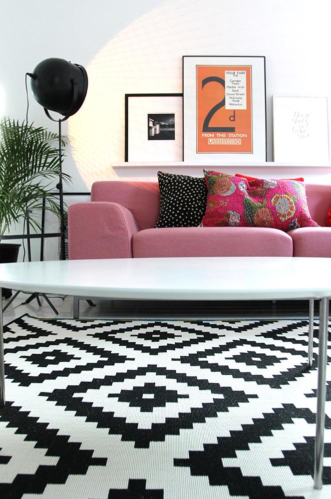 Black And White IKEA Rug Adorable Home