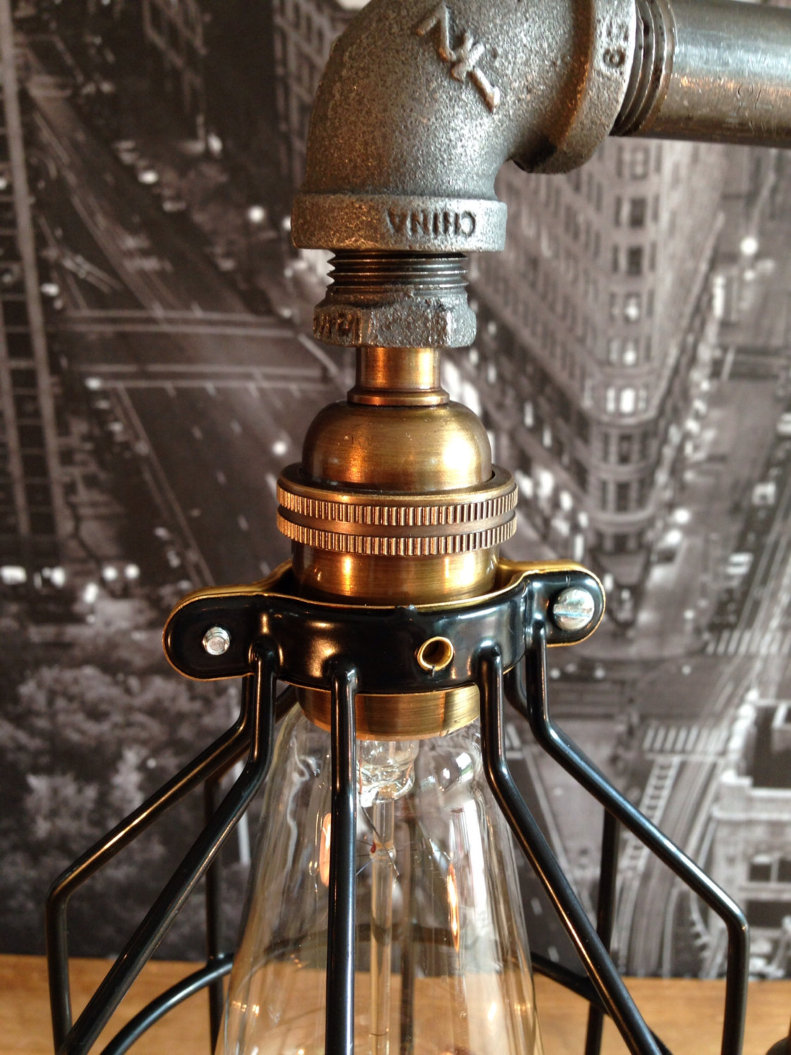 Bring A Touch Of Industrial Grunge Into Your Dcor With This Snazzy Two Cage Lamp Offered By