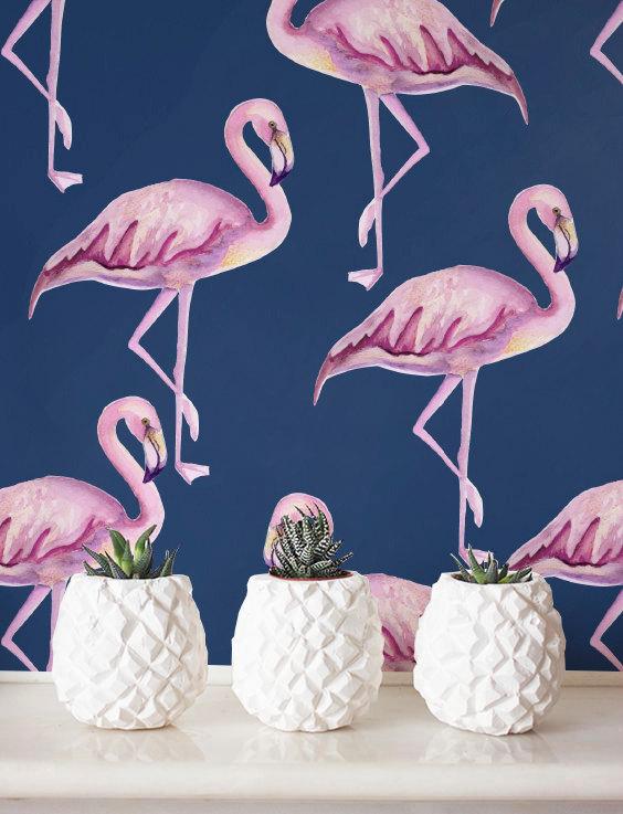 Vibrant Pink Flamingo Wallpaper Adorable Home