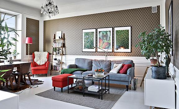 An Eclectic Scandinavian Home