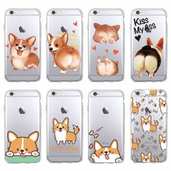Cute Corgi Dog Soft Phone Case for iPhone, Samsung For Pet Lovers Phone Accessories
