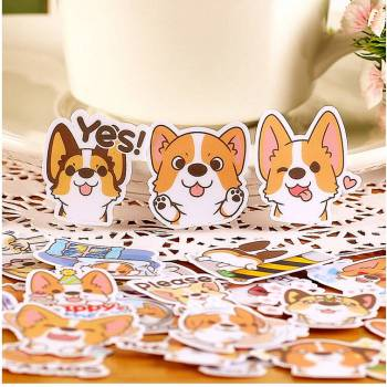 Creative Cartoon Dog Diary Stickers Set For Pet Lovers Office & School Supplies