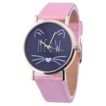 Women's Meow Cat Printed Watches For Pet Lovers Jewelry & Watches