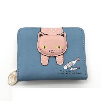 Women's Cute Cat Printed Wallet Bags & Wallets For Pet Lovers