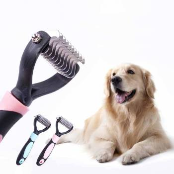 Professional Knot-Removing Dog's Brush Dogs Grooming & Care