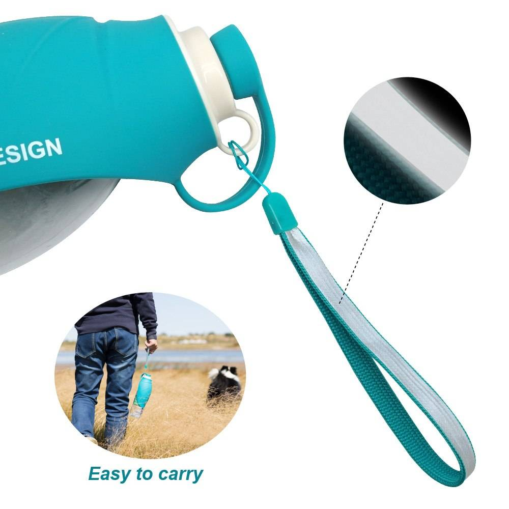 Portable Expandable Travel Food Grade Silicone Dog Water Bottle Dogs Feeding & Watering Accessories