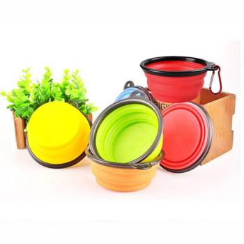 Folding Silicone Pet Bowl Cats Feeding & Watering Accessories