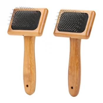 Bamboo Handle Pet Grooming Square Brush Cats Grooming & Care