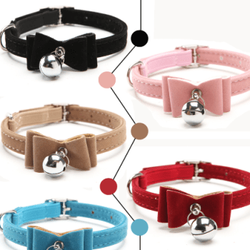 Elastic Collar with Bell for Cats Cats Collars, Harnesses & Leashes