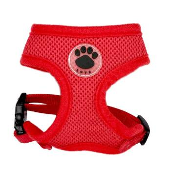 Breathable Paw Print Harness Collars, Harnesses & Leashes Dogs