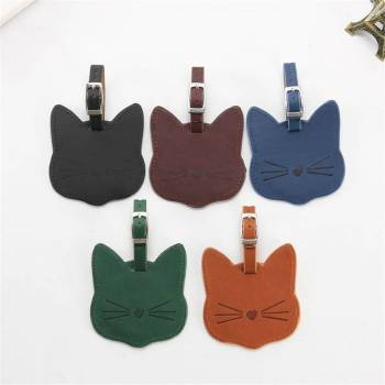 Cat Shaped Luggage Tag For Pet Lovers Travel Accessories