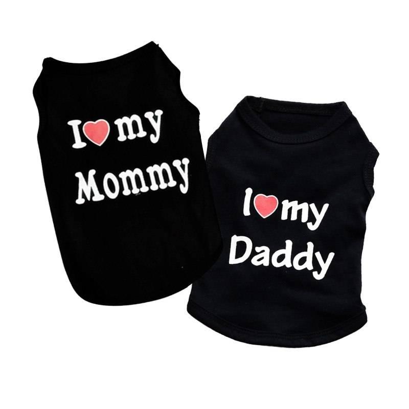 I Love My Mommy/Daddy Dog Shirt