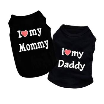 I Love My Mommy/Daddy Dog Shirt