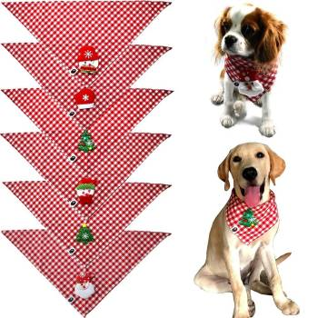 Checkered Christmas Dog Scarf Pet Christmas Costume and Toy
