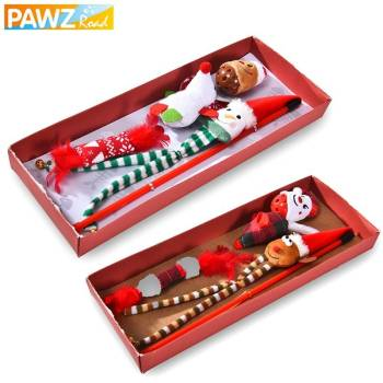 Christmas Style Cat Toys Set Pet Christmas Costume and Toy