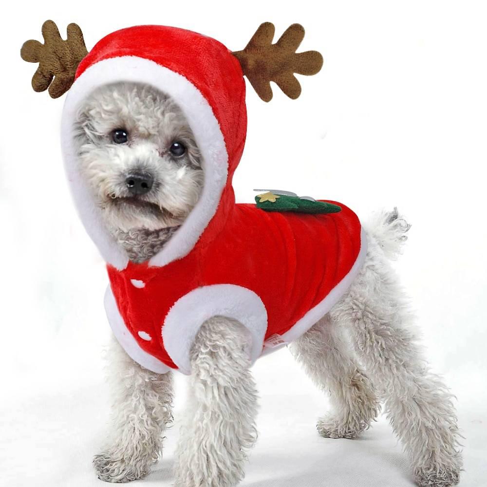 Christmas Style Flannel Dog Jacket
