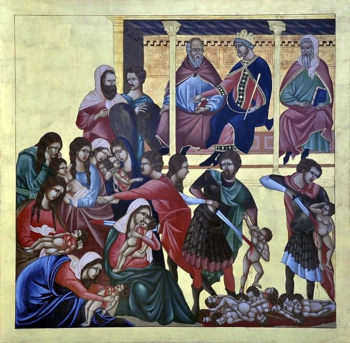Icono de los Santos Märtires Inocentes, de la parroquia homónima, en Cambaceres, Ensenada.