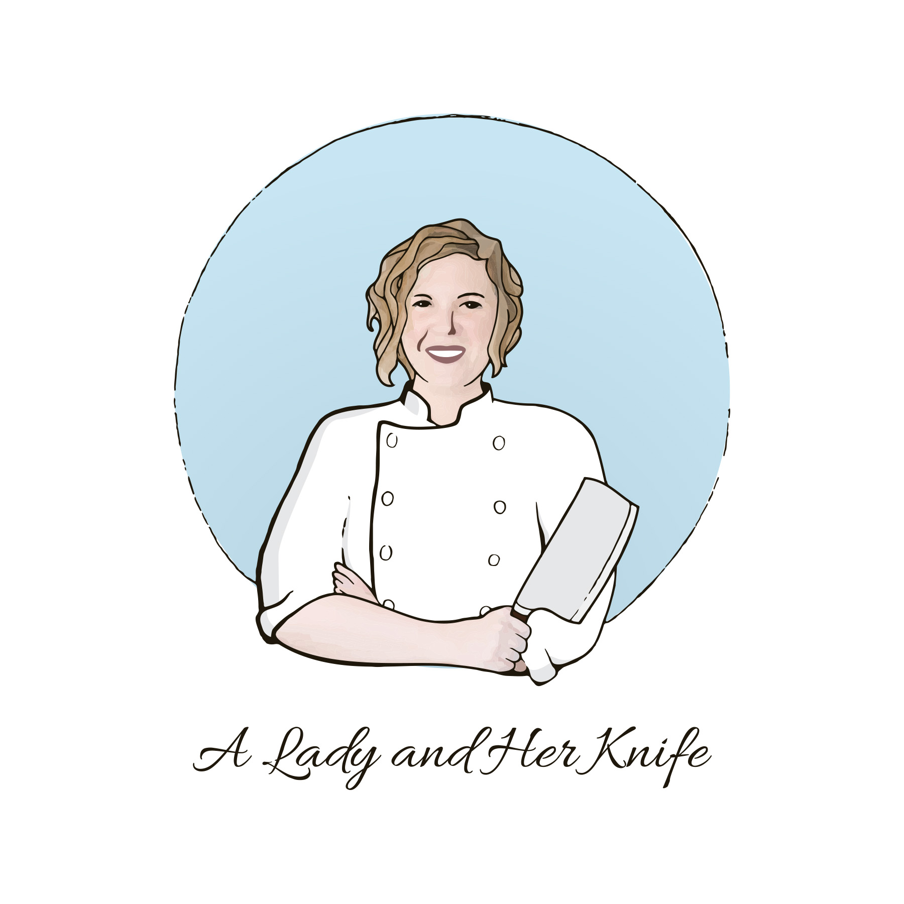 A Lady and Her Knife Logo
