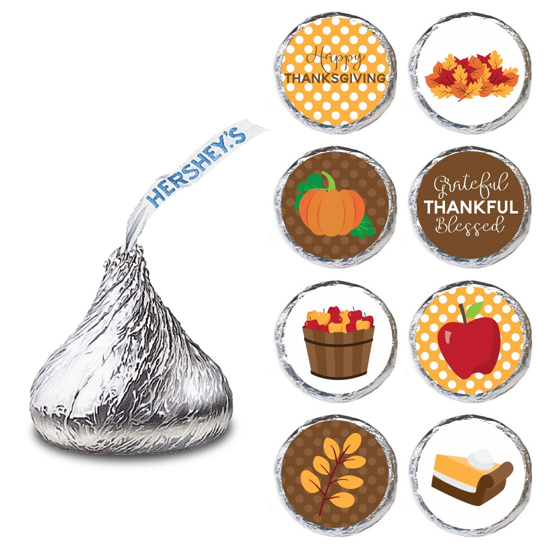 Thanksgiving Label For Hershey S Kisses Chocolates
