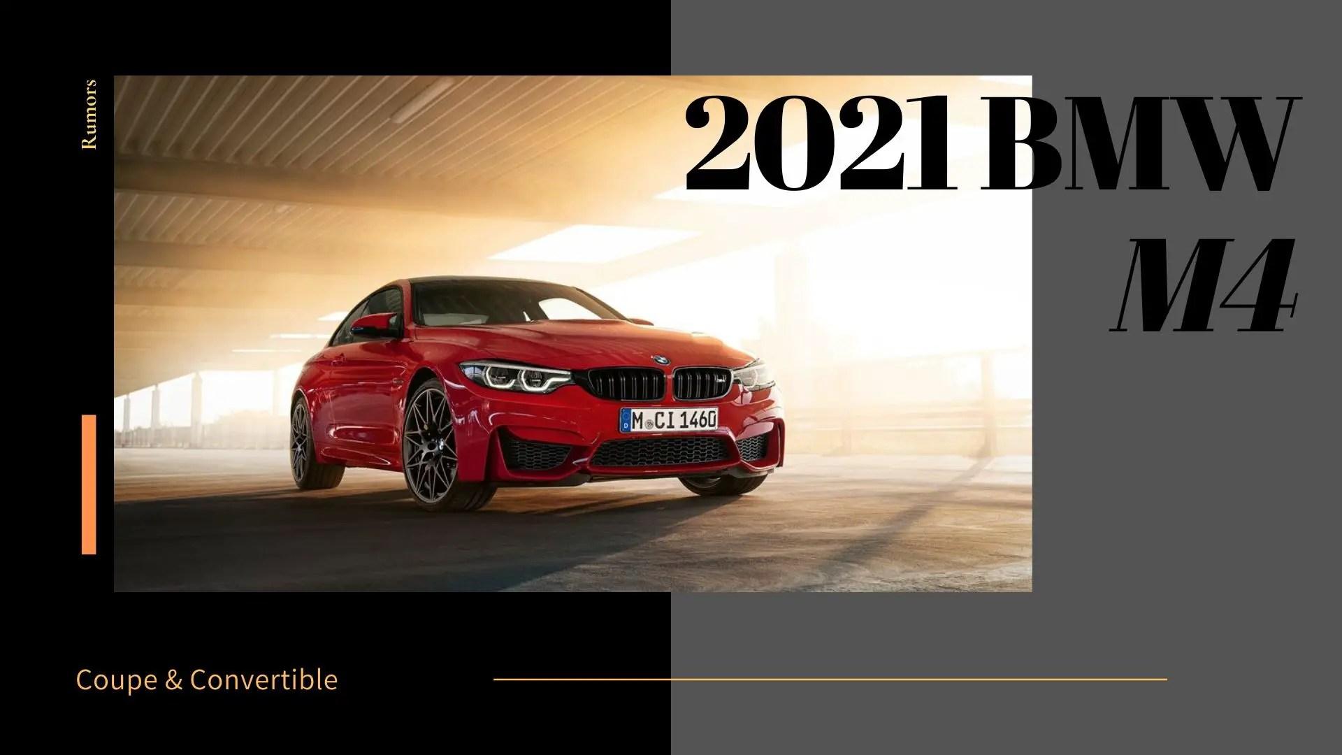 2021 BMW M4 Redesign & Updates