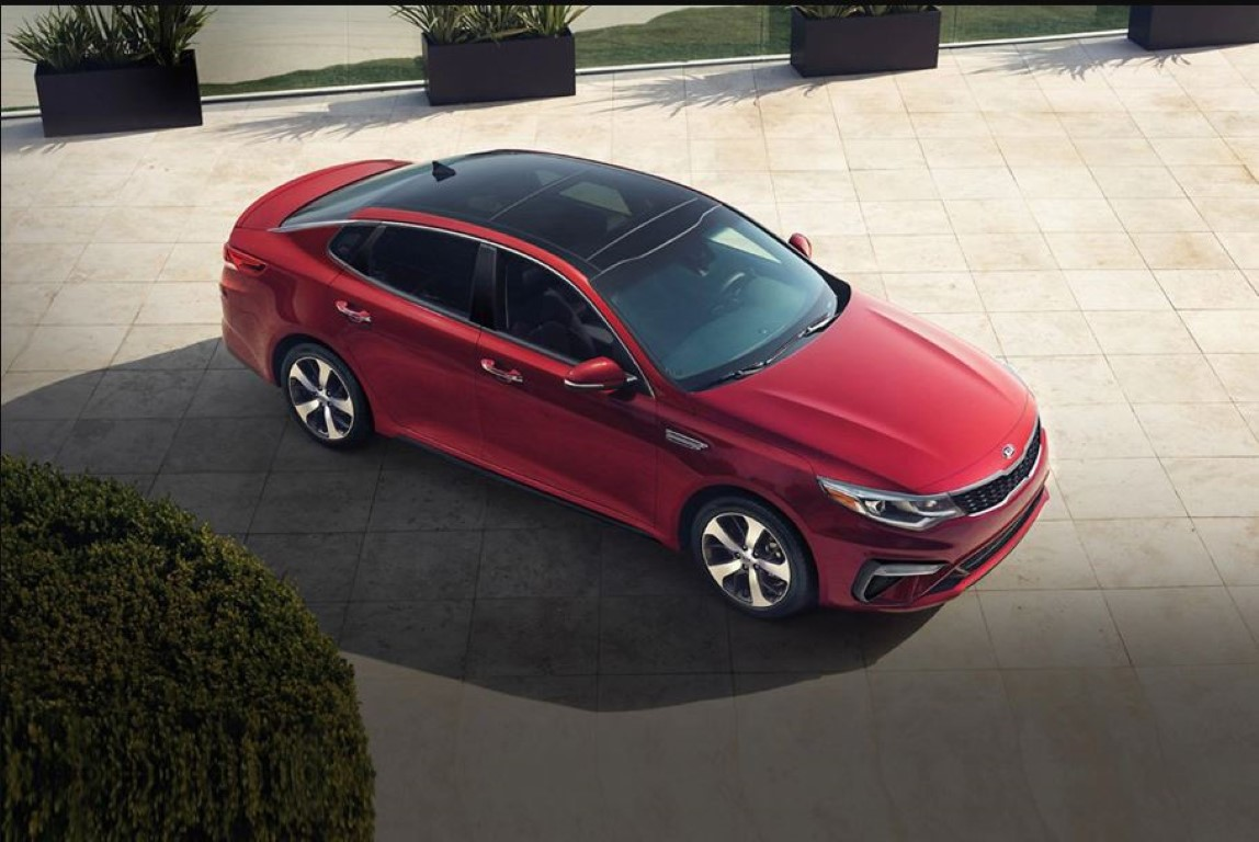 2021 Kia Optima Red Color New Sedan