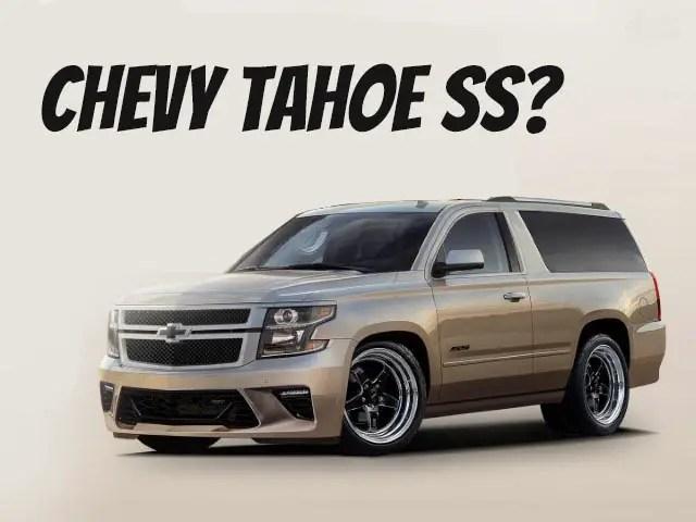 New Chevy Tahoe SS 2 Door SUV