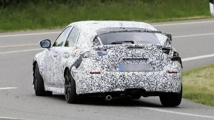 2022 Honda Civic Type R Spied Photos