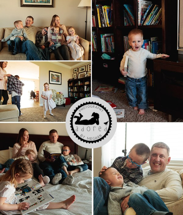 Lifestyle portrait family photos means casual, relaxes, at home. Adored by Meghan, Kennewick, WA, takes the pressure out of family photos during her lifestyle family portrait sessions.