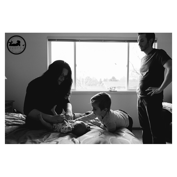 Tri-Cities, WA Newborn Lifestyle in home portrait session with photographer Adored by Meghan.