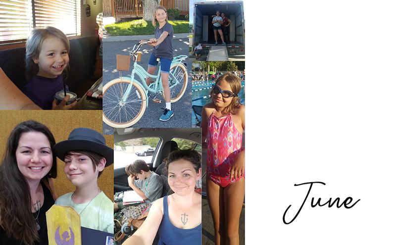 Birthdays, moving, summer camp, and swim team