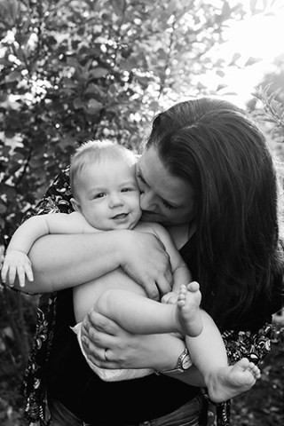 Black and white portrait of mother and son. Mother's Day photos Tri-Cities, WA photographer Adored by Meghan Rickard photography
