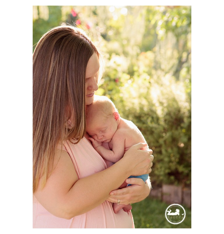 Newborn snuggled up to Mom during nursing portraits by Adored by Meghan, Kennewick WA